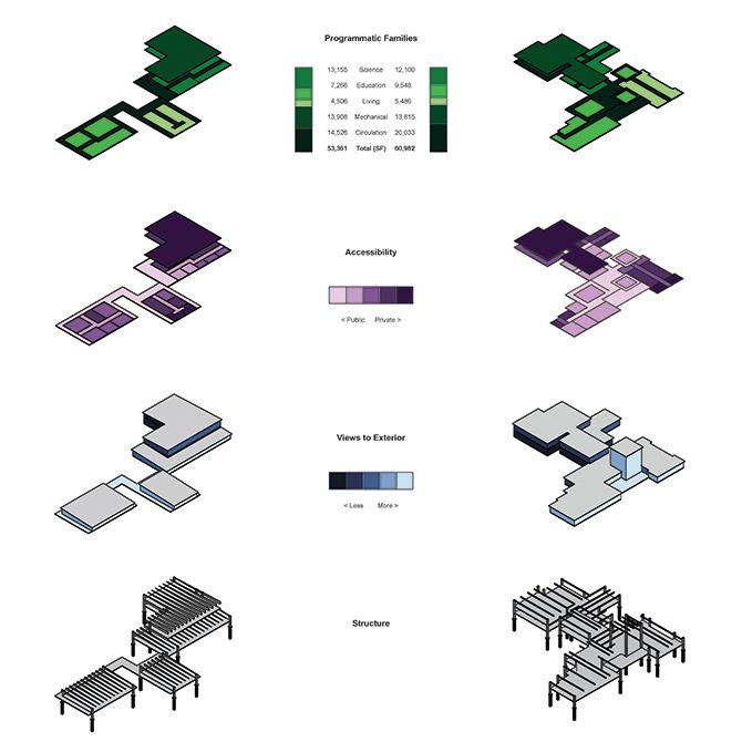 Axonometric diagrams, studio work by Cameron Spencer