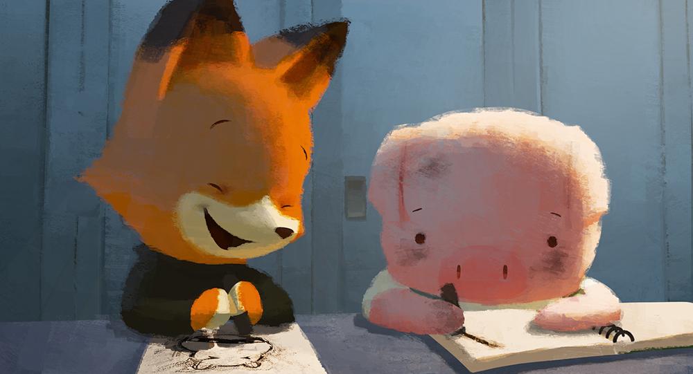 the dam keeper pixar fox and pig