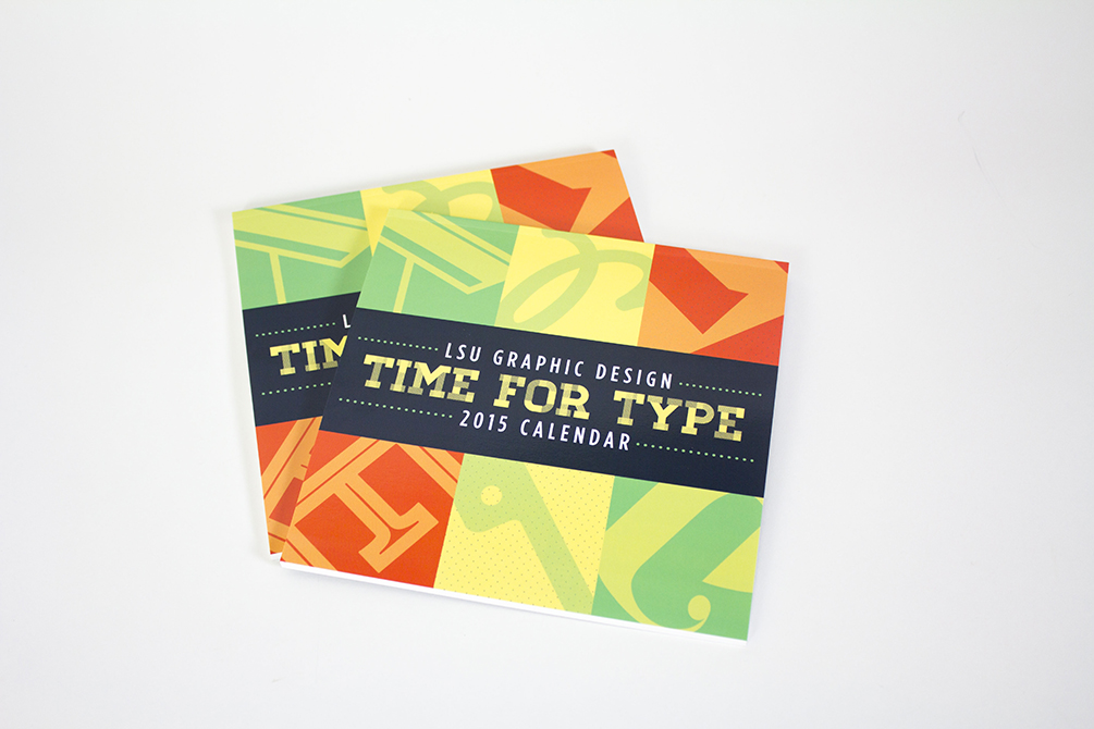 2015 Time for Type Calendar cover
