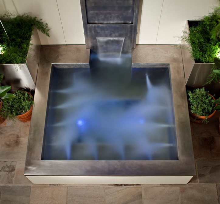 water feature, lsu landscape architecture alumni work