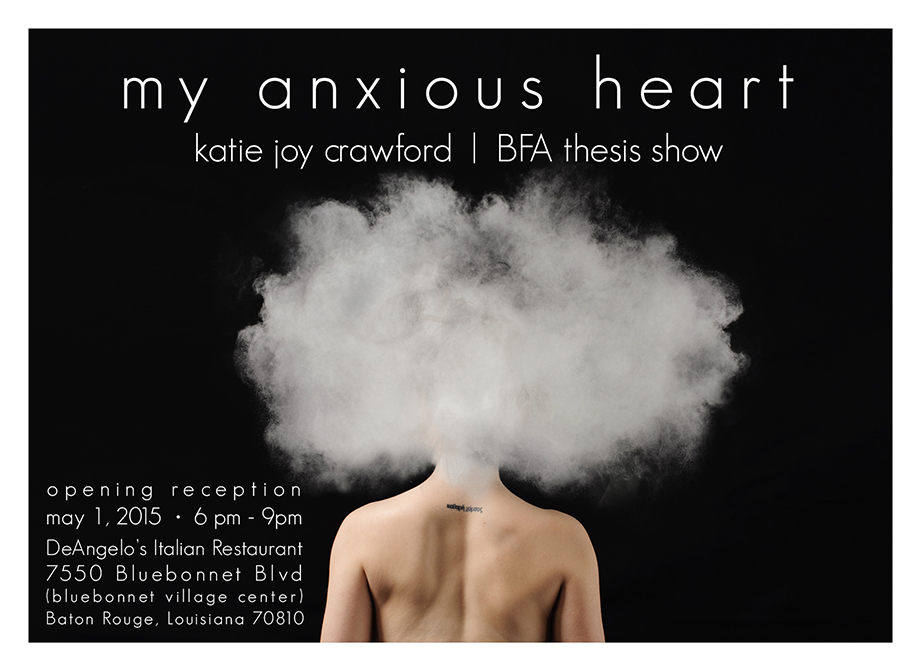 Graphic advertising My Anxious Heart by Katie Joy Crawford