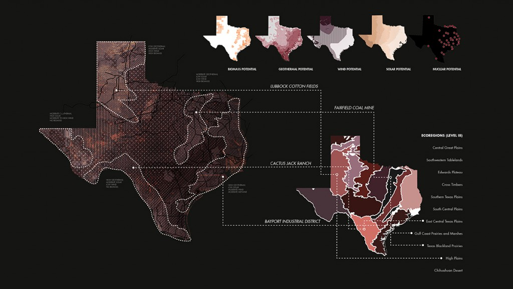 Map Texas designed by Erin Percevault, landscape architecture