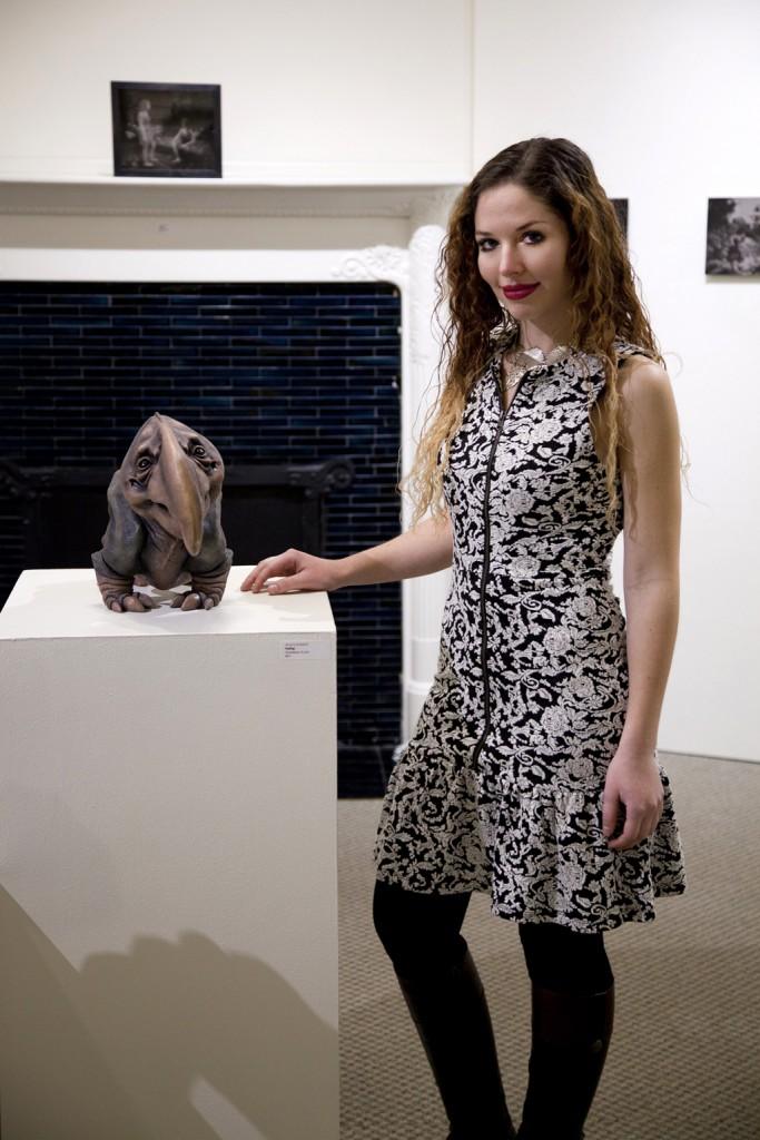 Jenni Lombardi with sculpture work