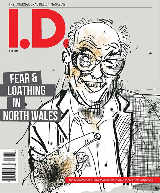 Cover of the International Design Magazine featuring work by Juan Baldera