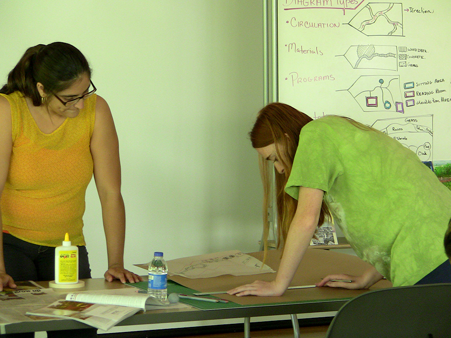 lsu landscape architecture camp drafting table
