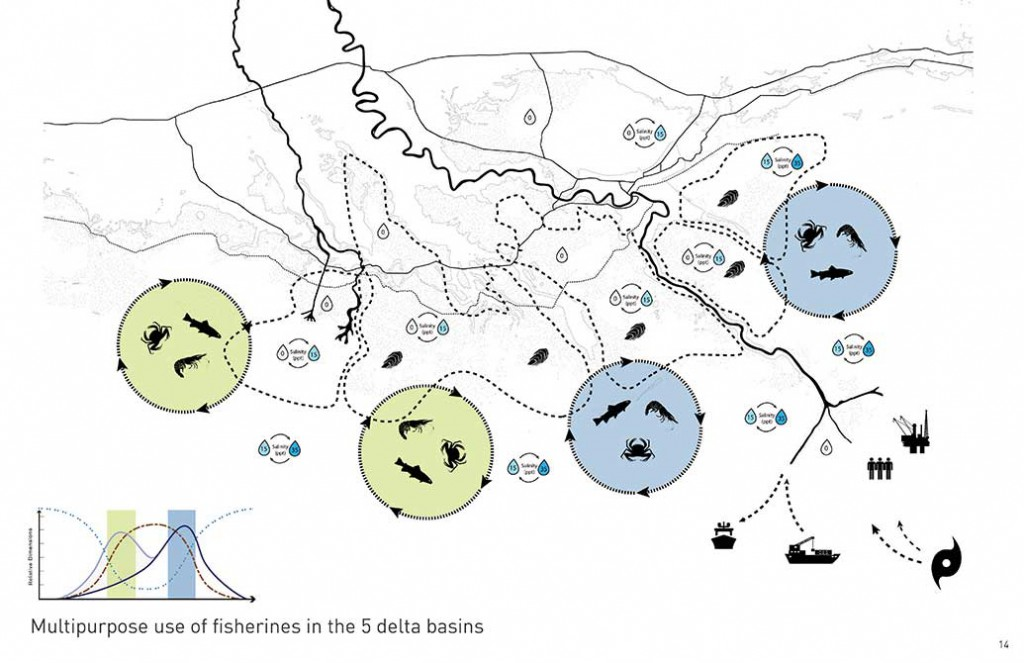 multipurpose use of fisheries in the five delta basins, changing course design competition