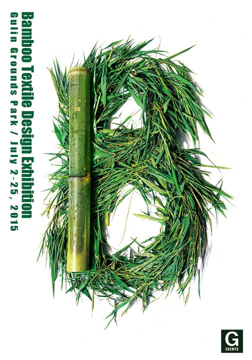 Graphic advertising Bamboo Textile Design Exhibition , richard doubleday