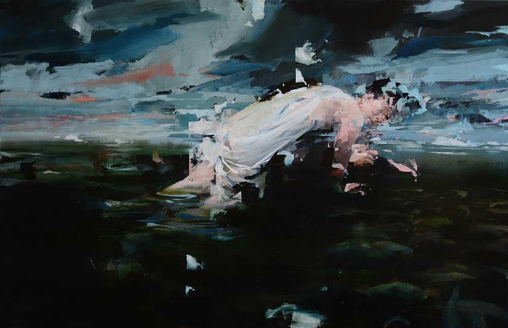 alex kanevsky painting of woman