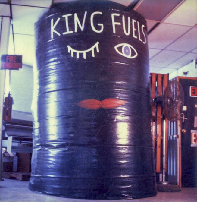 "joey tipton, ""king fuels"" sculpture"