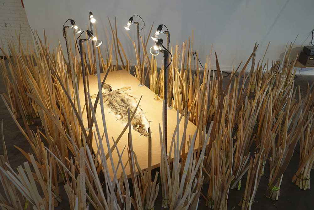 It's Lonely Out Here, 2015, Abstract sculpture resembling reeds