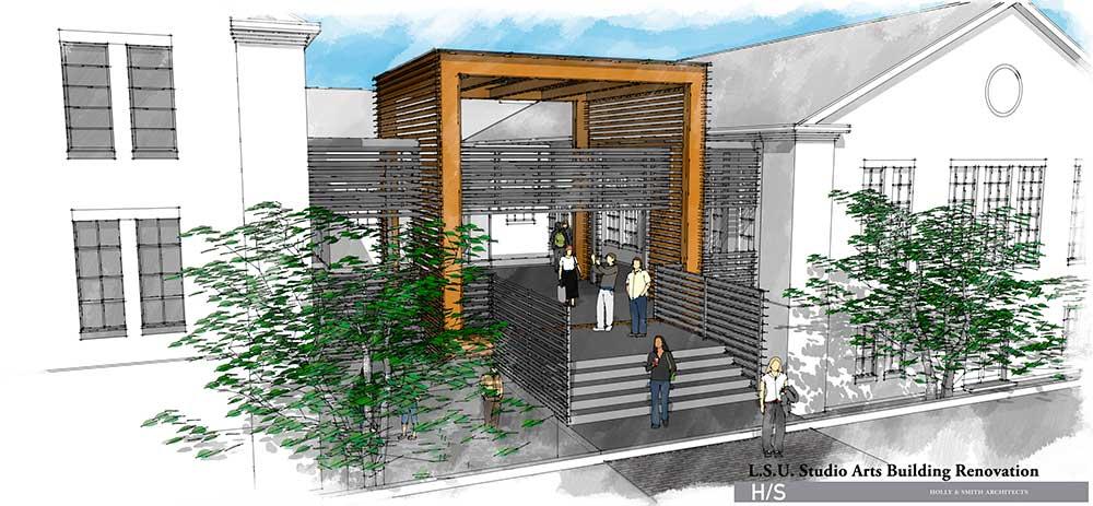 lsu studio arts building rendering