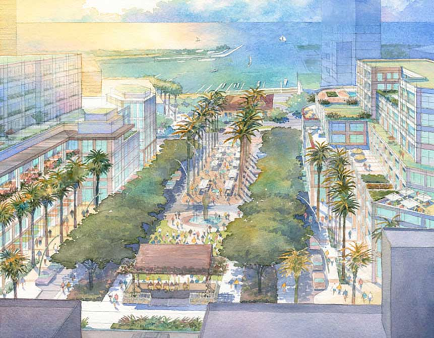 nadine carter russell chair: Ward Center's master plan, Honolulu Central Park