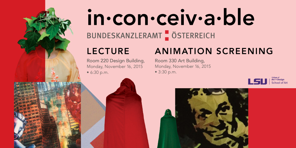 Graphic advertising Inconceivable, a lecture by Bundeskanzleramt