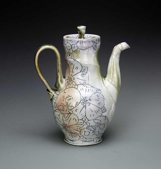 mike stumbras ceramic teapot