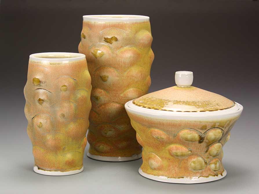 lsu mfa ceramics textured glasses
