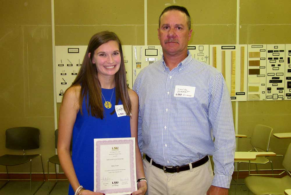 2015 scholarship reception, Haley Greer