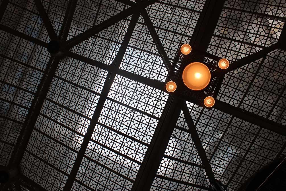 lsu in chicago geometric ceiling design