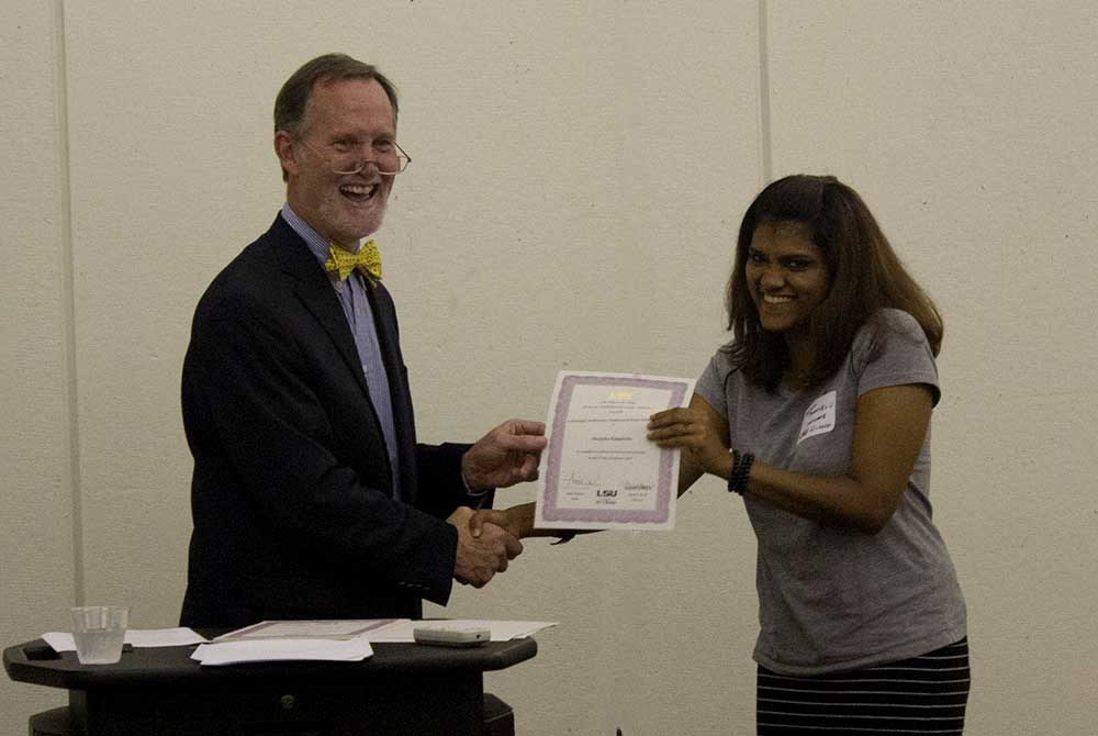 2015 scholarship reception, Monisha Palanivelu