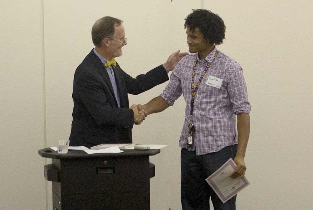 2015 scholarship reception, Ry'yan Clark