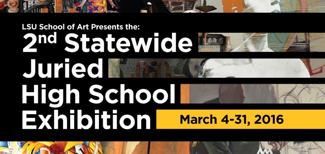 Graphic advertising the 2nd Statewide Juried High School Exhibition