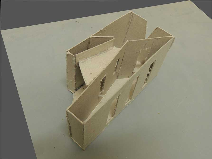 chip board model of home, lsu interior design student work