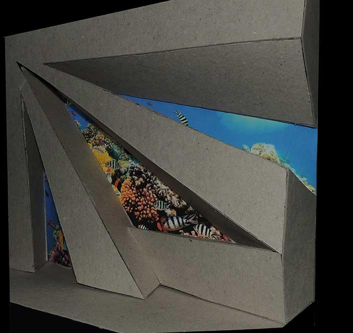 Large geometric install, lsu interior design student work