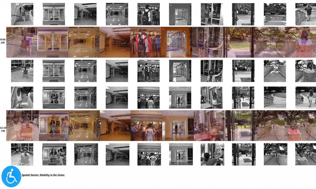 Many thumbnail images of spaces, lsu interior design student work