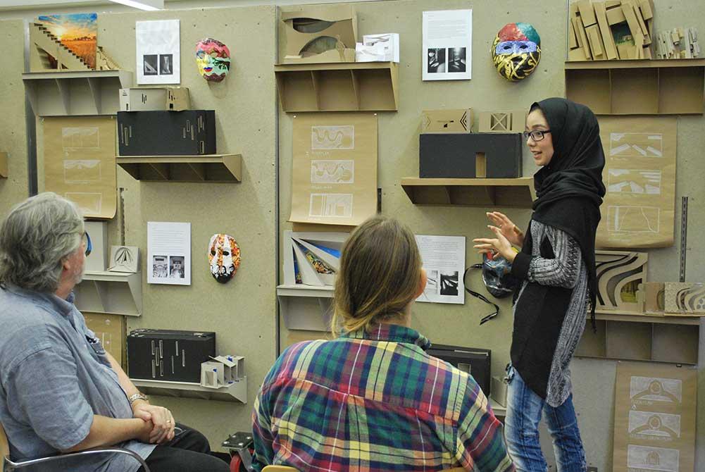 homaira qalandari presents final review work