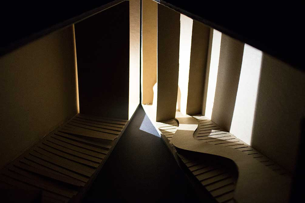 aimee lapeyre presentation model, Entries of light, lsu interior design student work