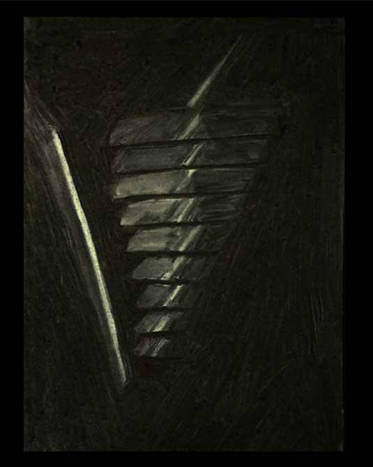 Dark light sketch, lsu interior design student work