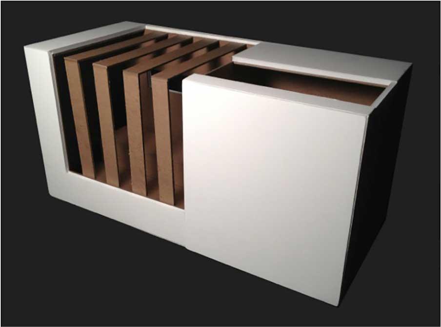 presentation model, allison prejean, lsu interior design student work