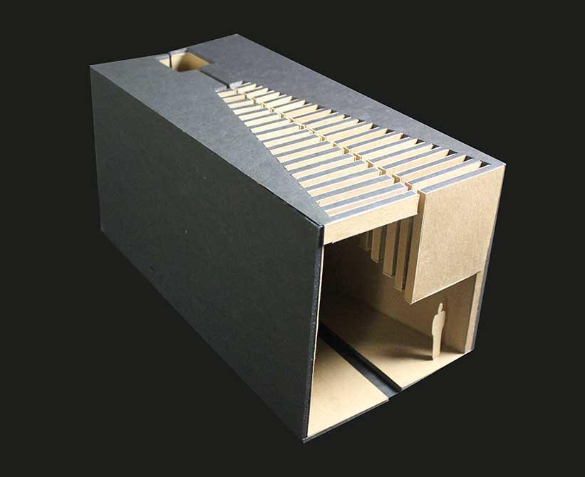 Inhabit, lsu interior design model student work