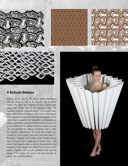delicate defense project, wearable design. lsu interior design student work