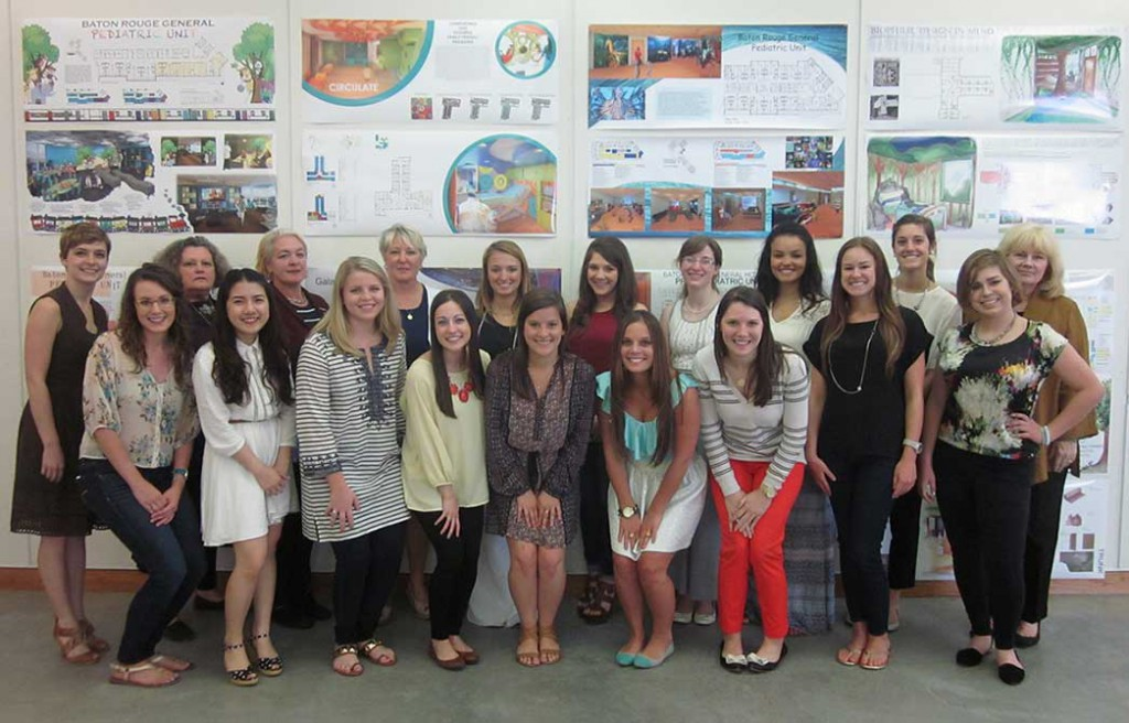 Group shot by designs. lsu interior design student work