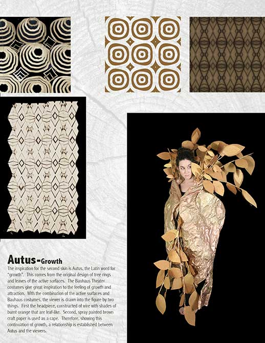autus growth pattern. lsu interior design student work