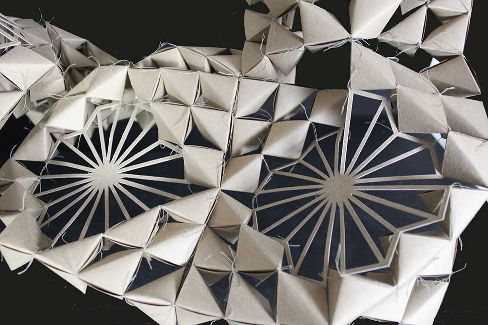 Geometric paper patterns. lsu interior design student work