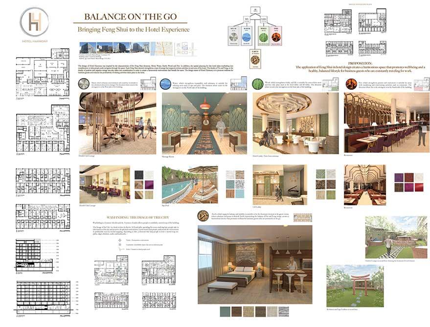 """Balance on the go"" design concept. lsu interior design student work"