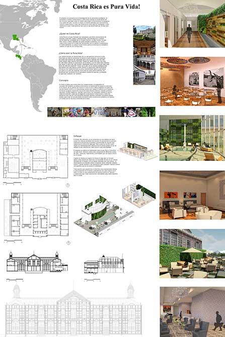 """""""Costa Rica es pura vida!"""" design concept. lsu interior design student work"""