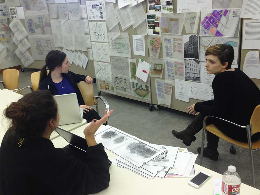 Group of students. lsu interior design student work