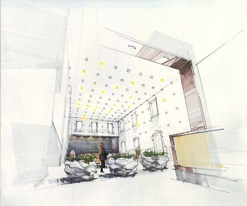 Interior drawing. lsu interior design student work