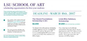 lsu art scholarships