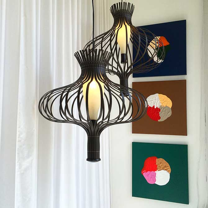 Modern light fixtures by colorful spot paintings, logan ledford