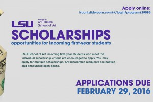 2016 lsu scholarships in art