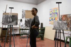 Kamea Comeaux, Bachelor of Fine Arts candidate, hearst scholarship
