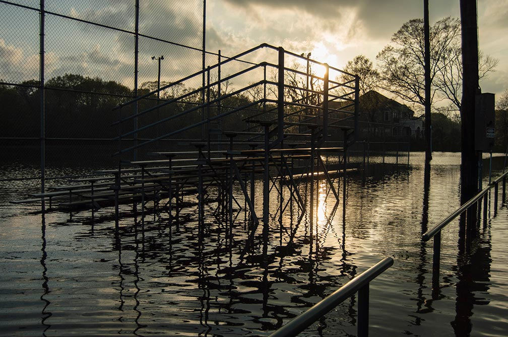 camille bauer photography flooded bleachers