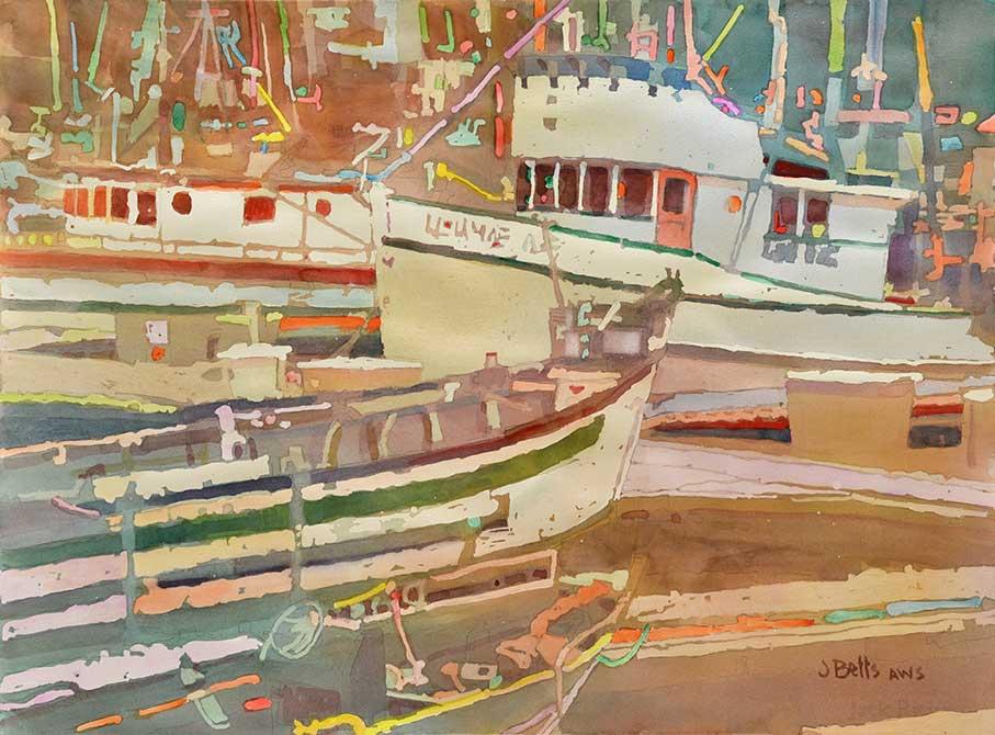 judi betts, harbor town painting