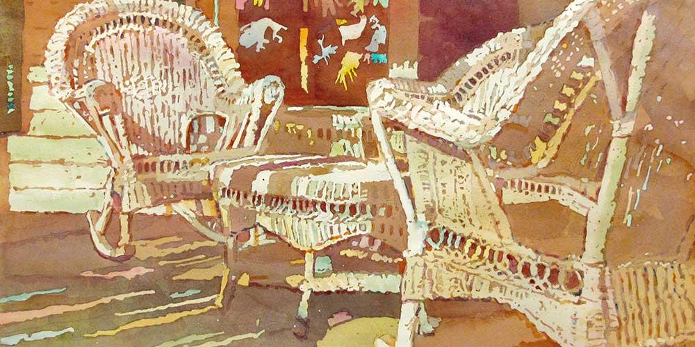 judi betts, palm saturday watercolor