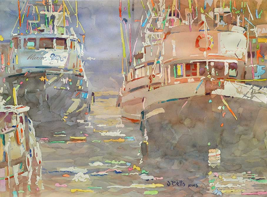 judi betts, marine star painting