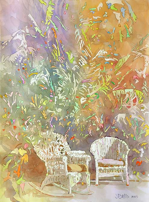 judi betts, palm saturday painting