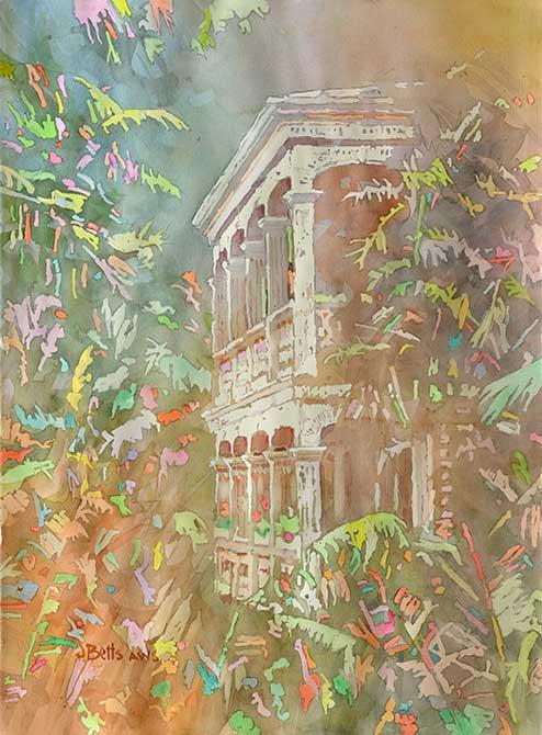 judi betts, spring fever painting